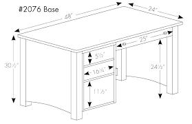 Office Desk Size Standard Dimensions Height Metric Minimum