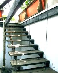 outdoor concrete block stairs design ideas staircase gallery timber steps exterior house deck with flared decorating