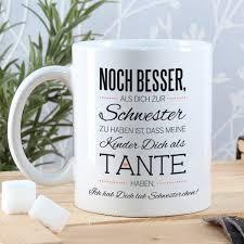 Tasse Zum Dank An Ihre Schwester