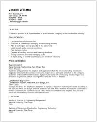 construction superintendent resume resume example free resume templates  2017 - Superintendent Resume Examples