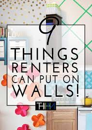 40 Things Renters CAN Put On Walls Girls' Bedrooms Pinterest Awesome 1 Bedroom Apartments In Davis Ca Creative Painting