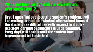 student teacher interview questions