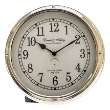 casa daniel ashley porthole clock silver