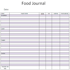 free food journal template food diary template printable food journal for food journal excel