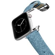glitter apple watch band blue