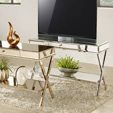 Omni X-Base Mirrored TV Stand with Drawer by INSPIRE Q