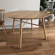 oak round dining table adorable nikau classique round dining table oak x