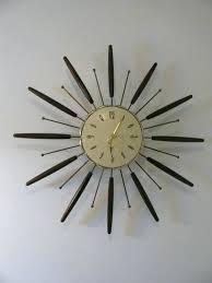vintage sunburst clock vintage sunburst wall clock vintage elgin starburst clock