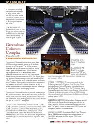 Greensboro Special Events Center Seating Chart Facilites Event Management 2013 Superbook By Facilities