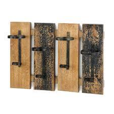 wood wall mounted wine glass rack