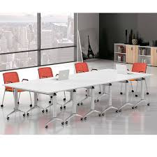 Office tables on wheels Homegram White Finish Wood Foldable Conference Table Office Furnitures Malaysia White Finish Wood Foldable Conference Table Buy Foldable