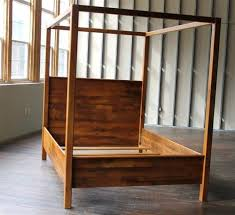 Rustic Farmhouse Canopy Bed | Reclaimed Furniture | Barn Wood ...