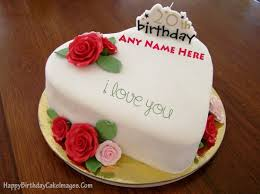 Birthday cakes with name pix ~ Birthday cakes with name pix ~ Heart shape birthday cake with name and age happy birthday cake