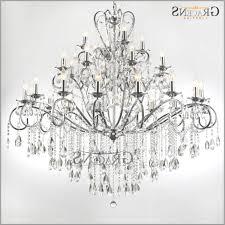 large 28 arms wrought iron chandelier crystal light fixture chrome intended for