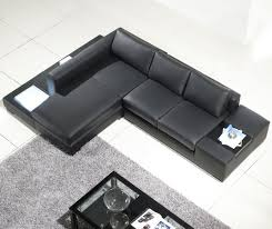 small black leather sectional sofa combined rectangle gray fur rug splendid l shaped leather couch