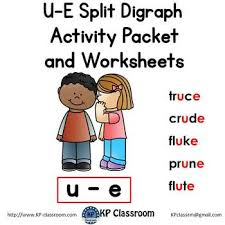 Students look at the pictures and circle the correct word. U E Split Digraph Activity Packet And Worksheets By Kp Classroom