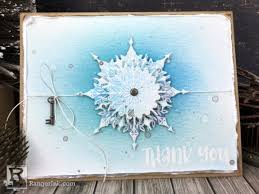snowflake thank you cards snowflake thank you card by bobbi smith ranger ink and innovative
