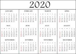2020 Calendar Editable Free Blank Printable Calendar 2020 Template In Pdf Excel