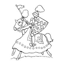 Ridder Met Lans Kleurplaat Ridders Kleurplaten Leuk Voor Kids
