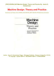 Design Theory Download Book Machine Design Theory And