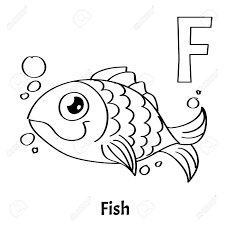 letter f color pages vector alphabet letter f coloring page fish royalty free cliparts