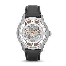 fossil men s townsman black automatic skeleton watch fossil men s townsman black automatic skeleton watch shipping today overstock com 16130390