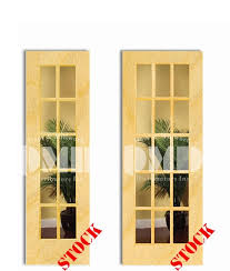 15 lite french clear glass white birch
