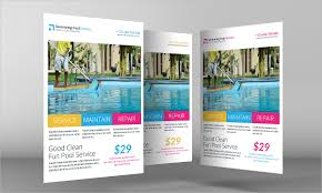 pool service flyers. Swimming Pool Cleaning Service Flyer Flyers