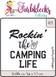 Clearstamp 0125 Rockin The Camping Life Stempel Clear Stamp