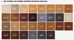 Mahogany Stain Color Chart General Finish Gel Stain Colors Coshocton
