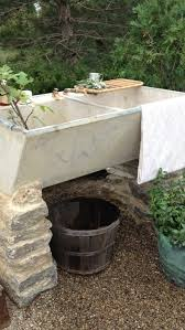 outdoor garden sink use brick versus stone and diffe type sin but like idea