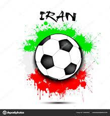 Voetbal En De Vlag Van Iran Stockvector Mityaypg 190432842