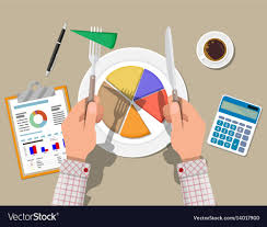 Hands With Knife And Fork Cut Chart Pie Peace