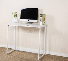 sentinel foxhunter foldable computer desk folding laptop pc table home office cd03 white