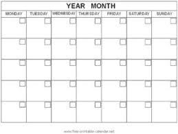 Free Printable Calendar Blank Blank Monthly Calendar