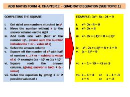 form 4 add maths bimbingan matematik uncle zul aПdЯЄÏ ѪaПÏБβΔs mathematics 9 lm quadratic equations