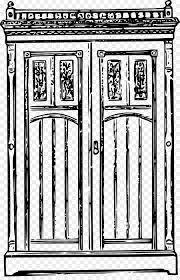 antique furniture wardrobe clip art vector door