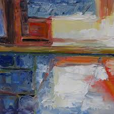 morning in the kitchen 6 x 6 inch oil on gessoboard by terrill welch 2016 08 23