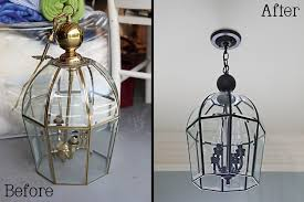 i give this ten a bower power paint old chandelier 2 home improvement how to spray paint old brass light fixtures