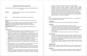 21 Free Employee Non-Disclosure Agreement Templates - Microsoft ...