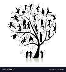 Family Tree Royalty Free Vector Image Vectorstock