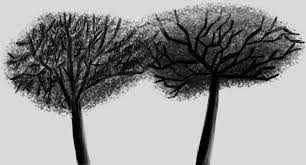 sumi e painting of trees by sonicpower451