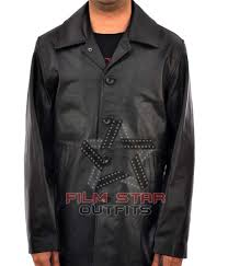 supernatural dean winchester black leather jacket