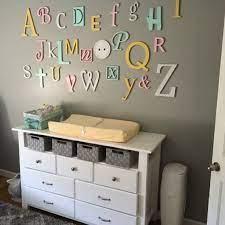 nursery letters wall decor wooden