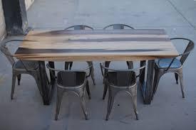 minimalist modern industrial office desk dining. Minimalist Modern Industrial Office Desk Or Dining Table // Sun Tanned Poplar Steel Base Legs D