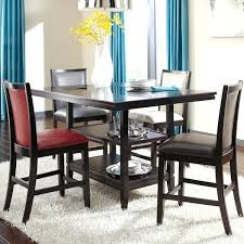 dining room glass table sets with upholstered furniture glambrey counter height set furnitu