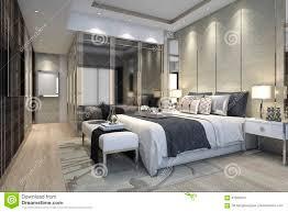 luxury modern bedroom. Beautiful Luxury 3d Rendering Interior And Exterior Design For Luxury Modern Bedroom