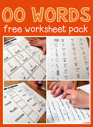 Phonics is a method for approaching teaching student how to both read and write. Worksheets For Oo Words The Measured Mom