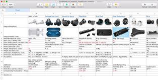 Wireless Earbud Comparison Chart