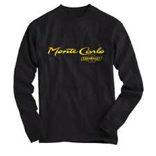 Details About Chevrolet Monte Carlo T Shirt Long Sleeves Black All Size